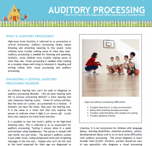 Auditory Processing Handout